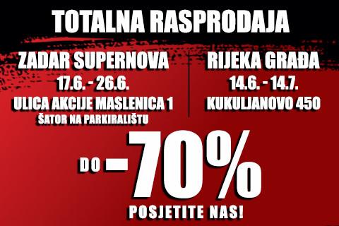 Sport Vision totalna rasprodaja do 70%