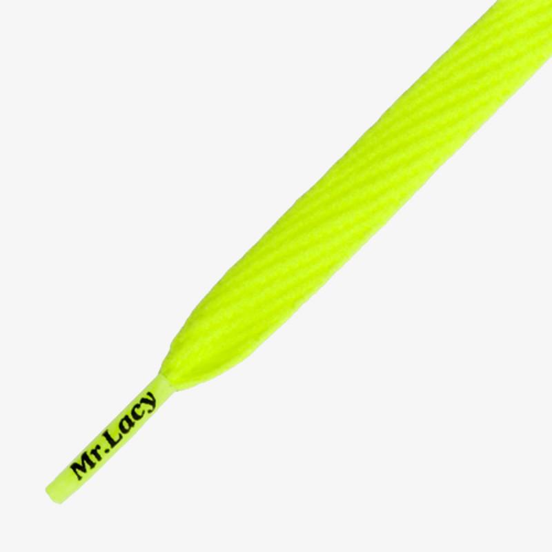 MR LACY vezice - Flatties, Neon Lime Yellow