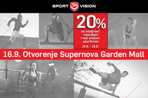 SPORT VISION OTVARA VRATA U SUPERNOVA GARDEN MALL-U