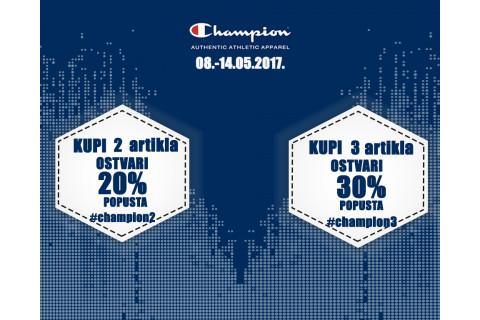 Uštedite 20% ili 30% na novu Champion kolekciju