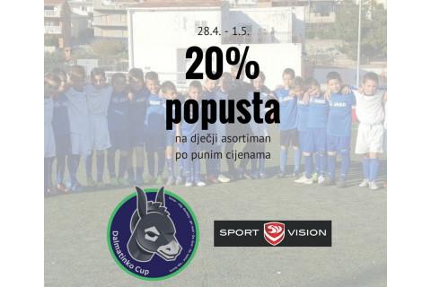 20% popusta na dječji asortiman povodom Dalmatinko Cupa