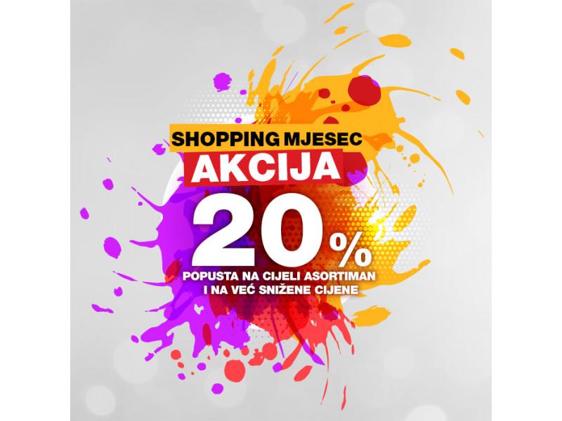 Mjesec dana dodatnih 20% popusta - Shopping Mjesec u Sport Visionu