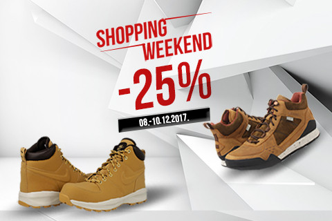 [SHOPPING WEEKEND] Do kraja vikenda uštedi do 25% na odabrane artike!