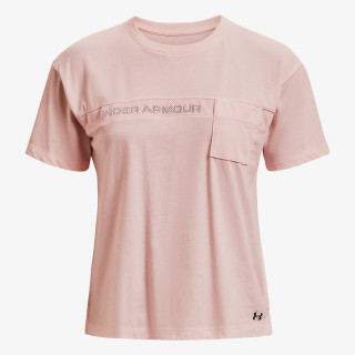 UNDER ARMOUR t-shirt LIVE POCKET MESH GRAPHIC SS