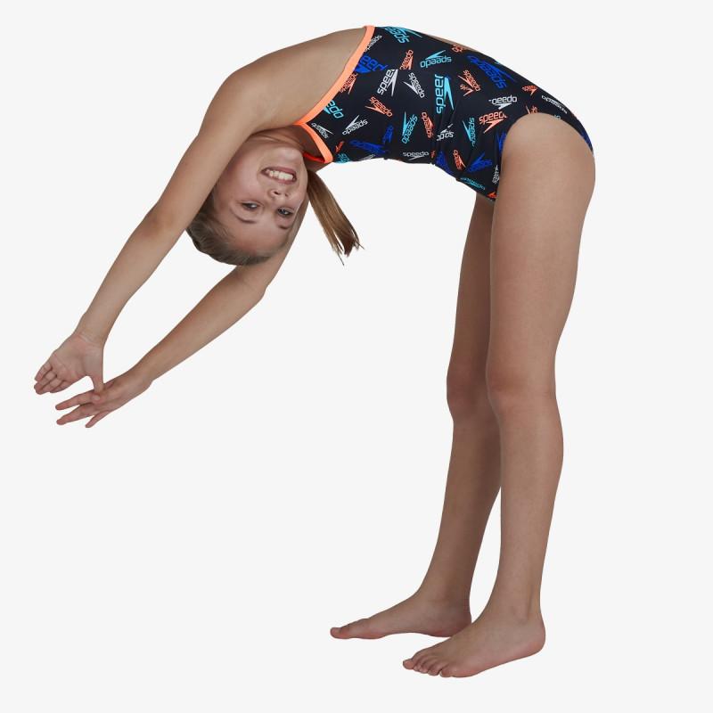 SPEEDO dječji kupaći kostim PLMT TSRP MSBK JF BLACK/ORANGE