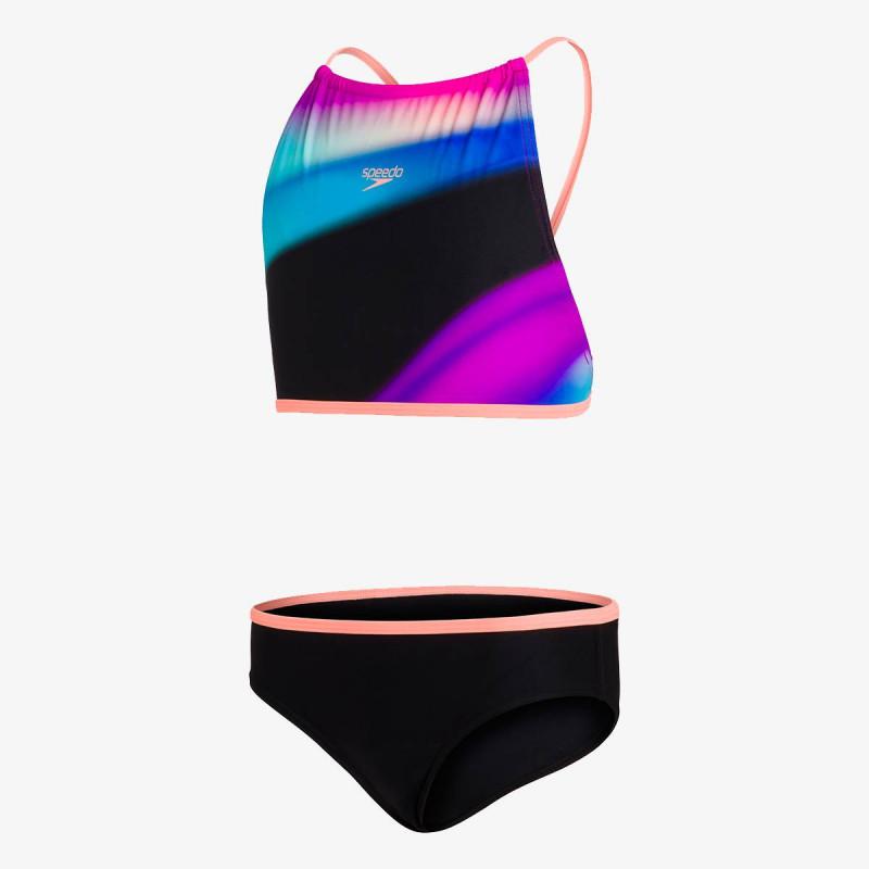 SPEEDO dječji kupaći kostim STAR 2PC JF BLACK/ORANGE