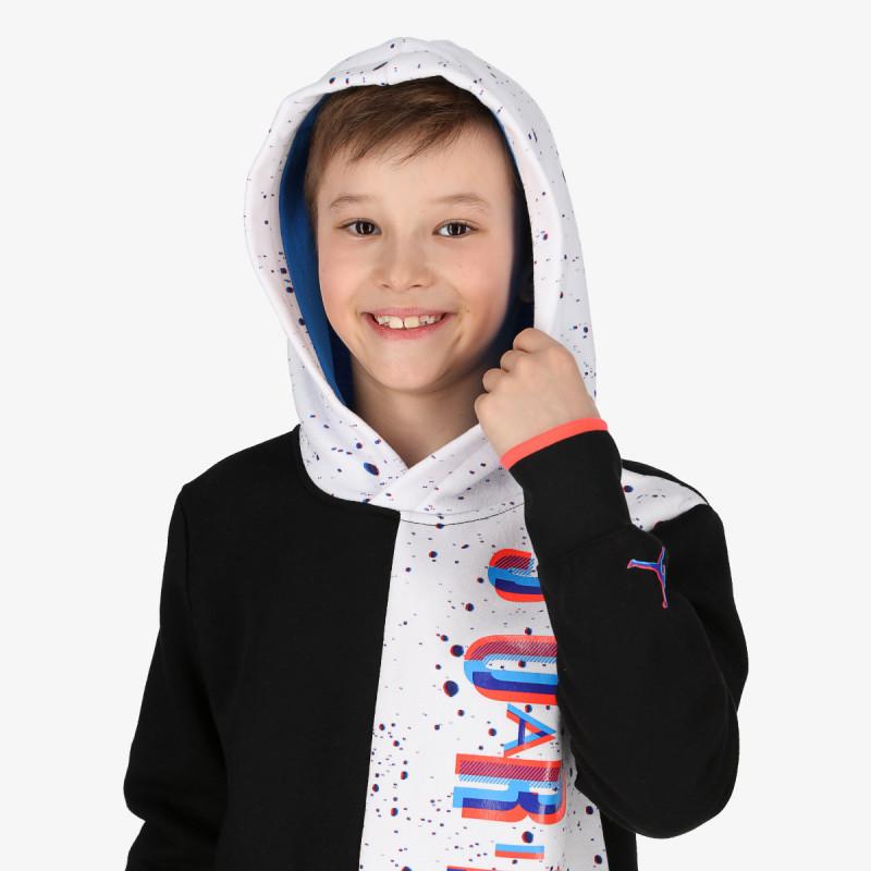 NIKE dječja majica s kapuljačom JDB SPACE GLITCH FLEECE PO