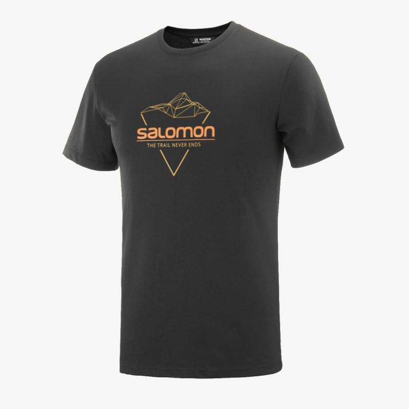 SALOMON t-shirt BLEND LOGO TEE M Black/Cumin/APRICO