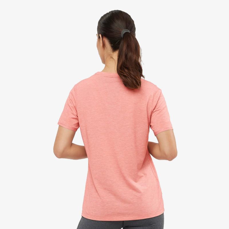 SALOMON t-shirt S/NTIAL CLASSIC SS TEE W BRICK DUST