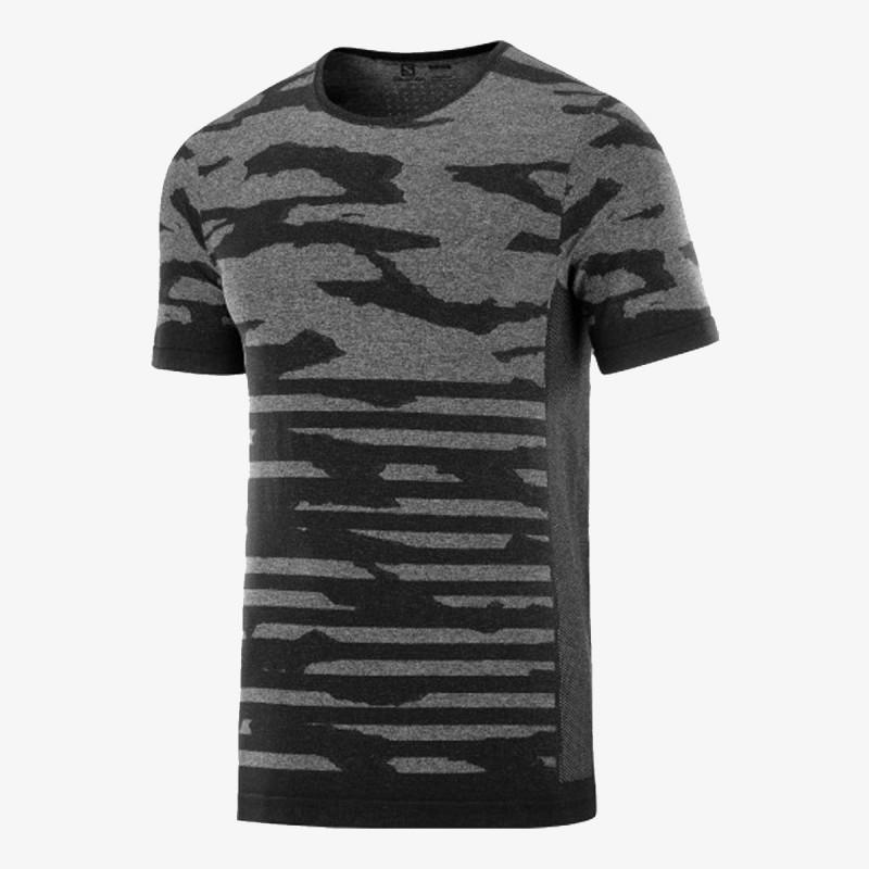SALOMON t-shirt XA CAMO TEE Black/Heather
