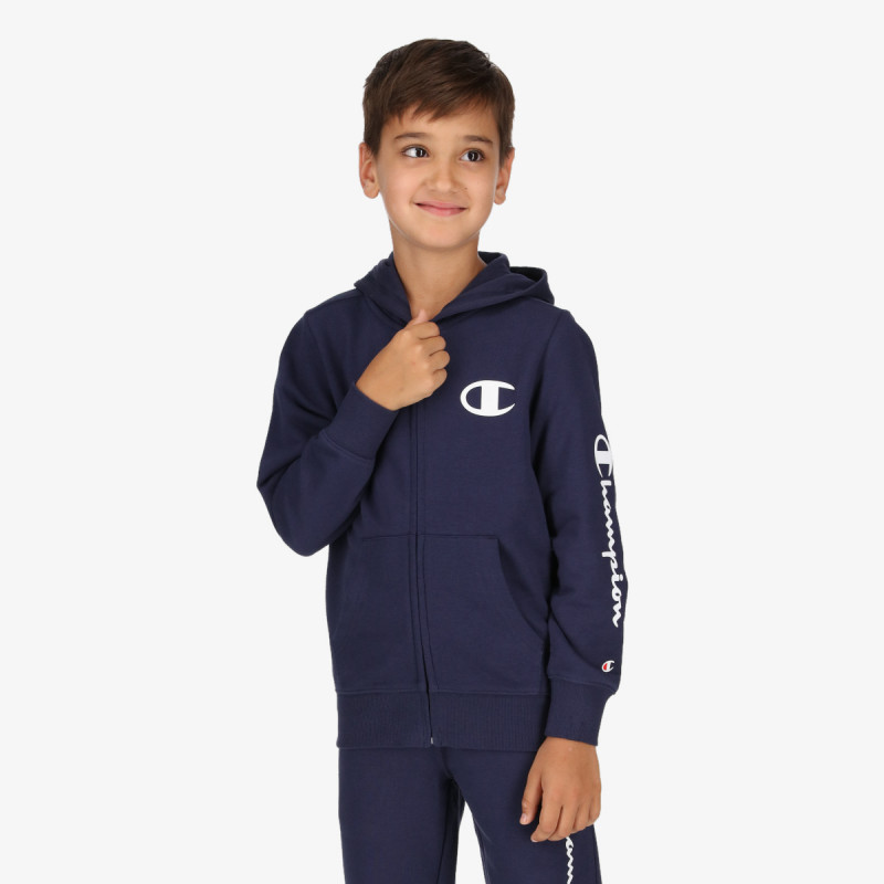 CHAMPION dječja majica s kapuljačom na patent BOYS BASIC