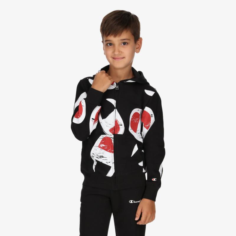 CHAMPION dječja majica s kapuljačom na patent BOYS ROCH