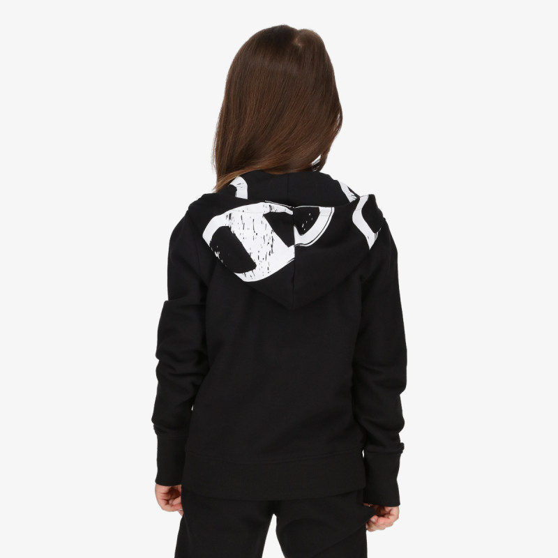 CHAMPION dječja majica s kapuljačom na patent GIRLS ROCH