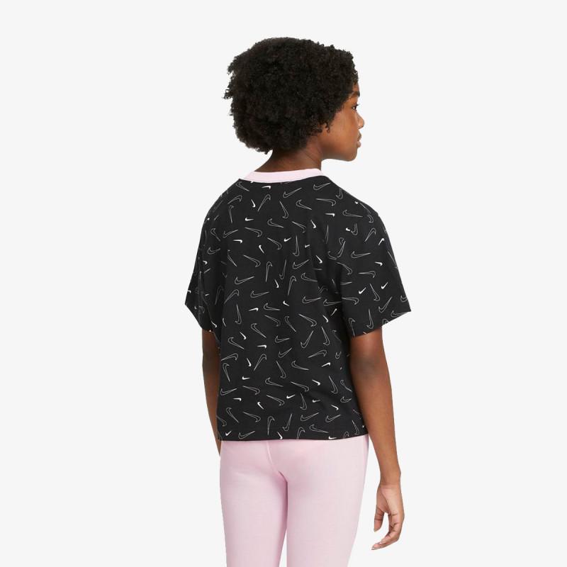 NIKE dječji t-shirt G NSW TEE BOXY SWSH FETTI