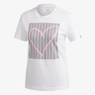 adidas t-shirt W ADI HEART T