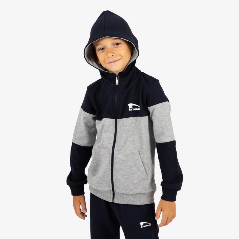 KRONOS dječja majica s kapuljačom na patent BOYS