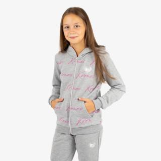 KRONOS dječja majica s kapuljačom na patent GIRLS