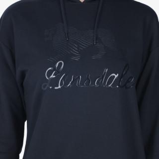 LONSDALE majica s kapuljačom LION FOIL