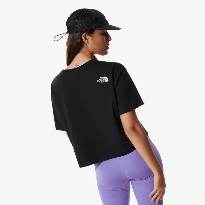 THE NORTH FACE t-shirt W CROPPED FINE TEE