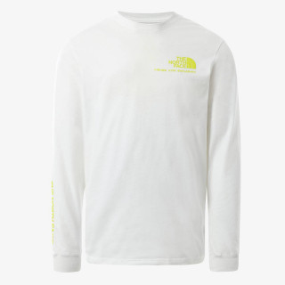 THE NORTH FACE t-shirt M BASE FALL GRAPHIC L/S TEE