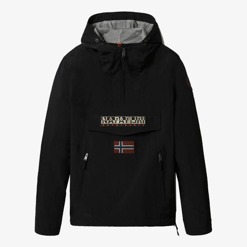 NAPAPIJRI jakna RAINFOREST S PKT 2 BLACK