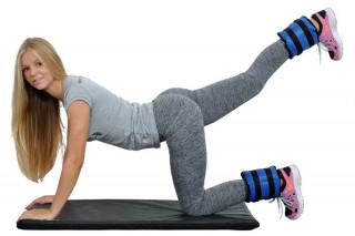 RING SPORT fitness oprema UTEZI S ČIČKOM 2x3kg