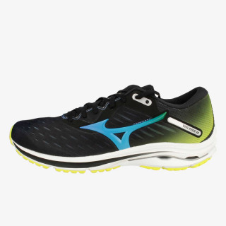 MIZUNO  tenisice WAVE RIDER 24 Black /Blue Atoll/Safety Yellow