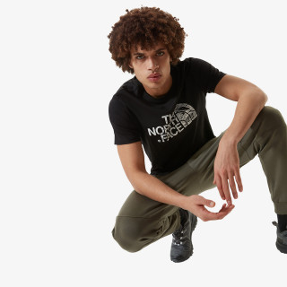 THE NORTH FACE t-shirt M S/S WOODCUT DOME TEE-EU