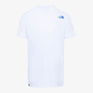 NORTH FACE t-shirt M S/S MOUNT LINE TEE TNFWHT/SUMMTGLD