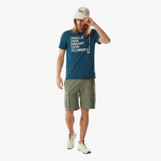 THE NORTH FACE t-shirt M S/S WALLS ARE FOR CLIMBING TEE-EU