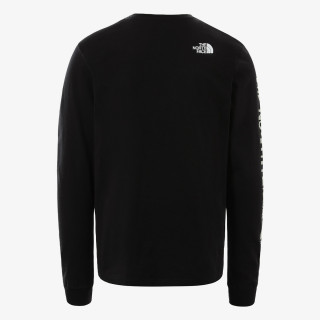 THE NORTH FACE t-shirt M WARPED TYPE GRAPHIC L/S TEE