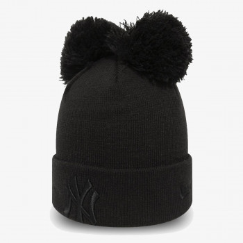 NEW ERA kapa DOUBLE POM CUFF KNIT NEYYAN BLKBLK