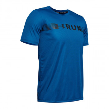 UA RUN WARPED SHORTSLEEVE