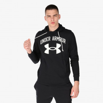 UNDER ARMOUR majica s kapuljačom RIVAL TERRY BIG LOGO HD