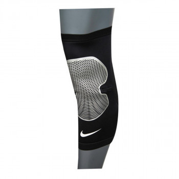 NIKE steznici PRO HYPERSTRONG KNEE SLEEVE 2.0 BLACK/METALLIC SILVER/WHITE