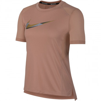 NIKE t-shirt W NK MILER TOP SS METALLIC