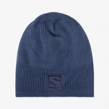 SALOMON beanie LOGO DARK DENIM/MOOD INDIGO