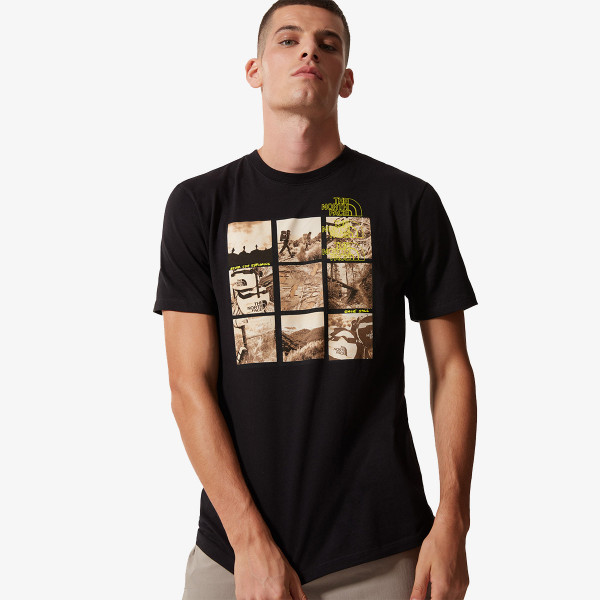 THE NORTH FACE t-shirt M BASE FALL GRAPHIC S/S TEE