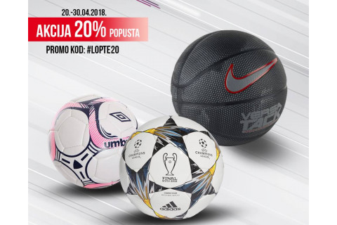 20% popusta na lopte u Sport Visionu