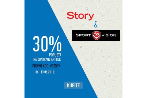 Story kuponi i posebne pogodnosti u Sport Visionu