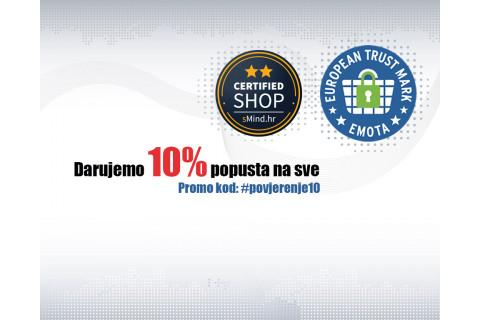 Certified Shop® oznaka – proslavite s nama i iskoristite 10% popusta na SVE