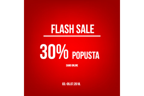 Novi Flash Sale s 30% popusta na web shopu!