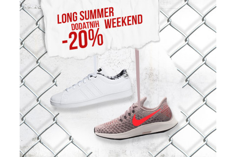Long Summer Weekend i dodatni popusti 20%