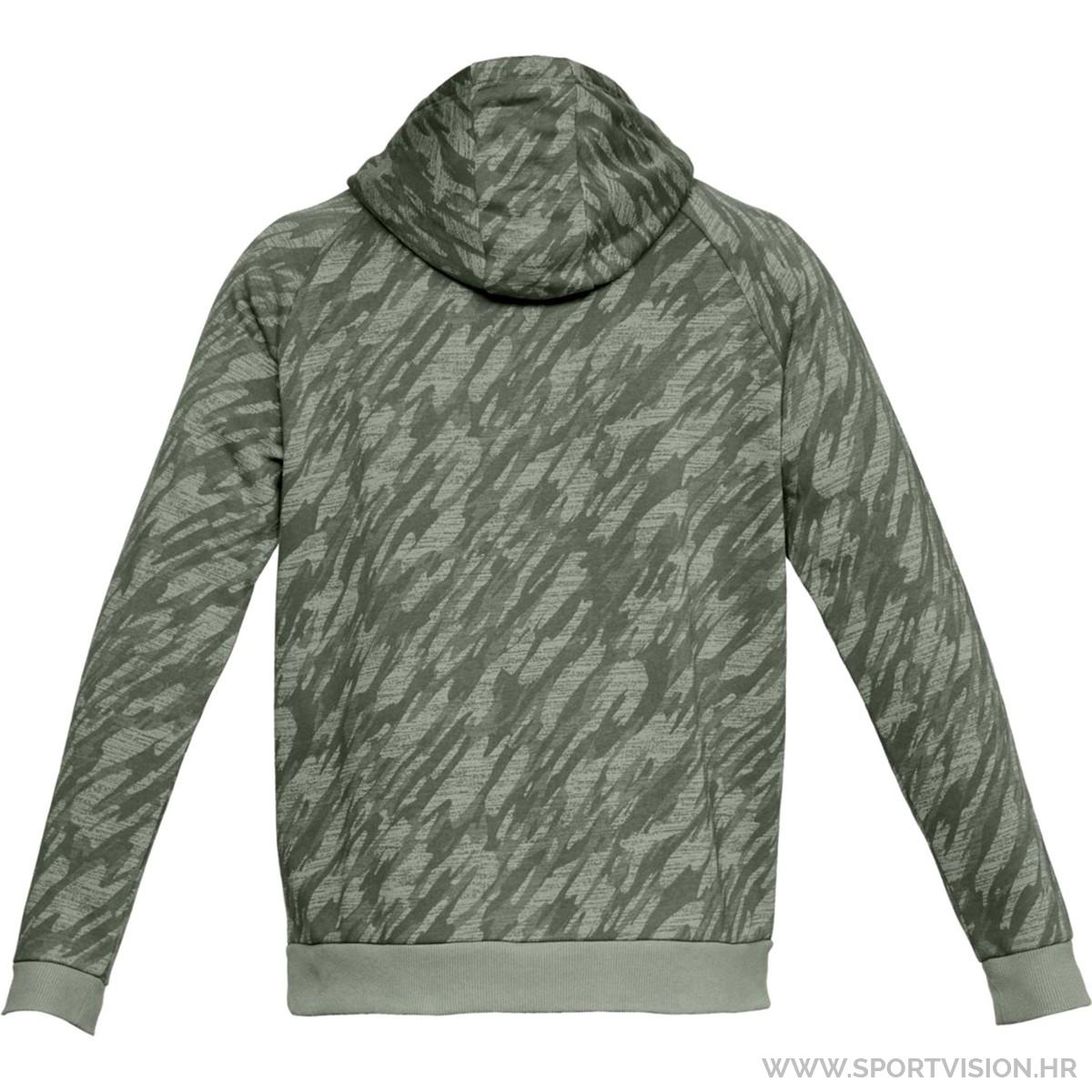 UNDER ARMOUR majica s kapuljačom RIVAL FLEECE CAMO HOODY